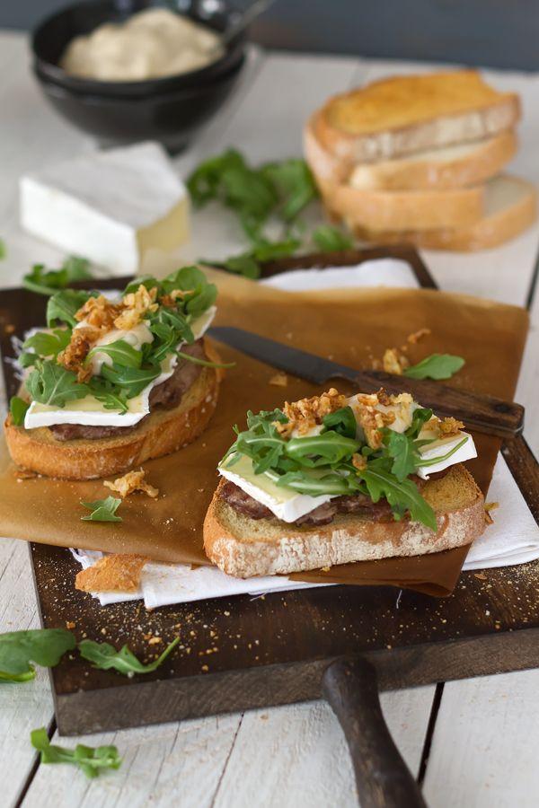 Tostas de Presa Ibérica con Mayonesa de Membrillo #receta