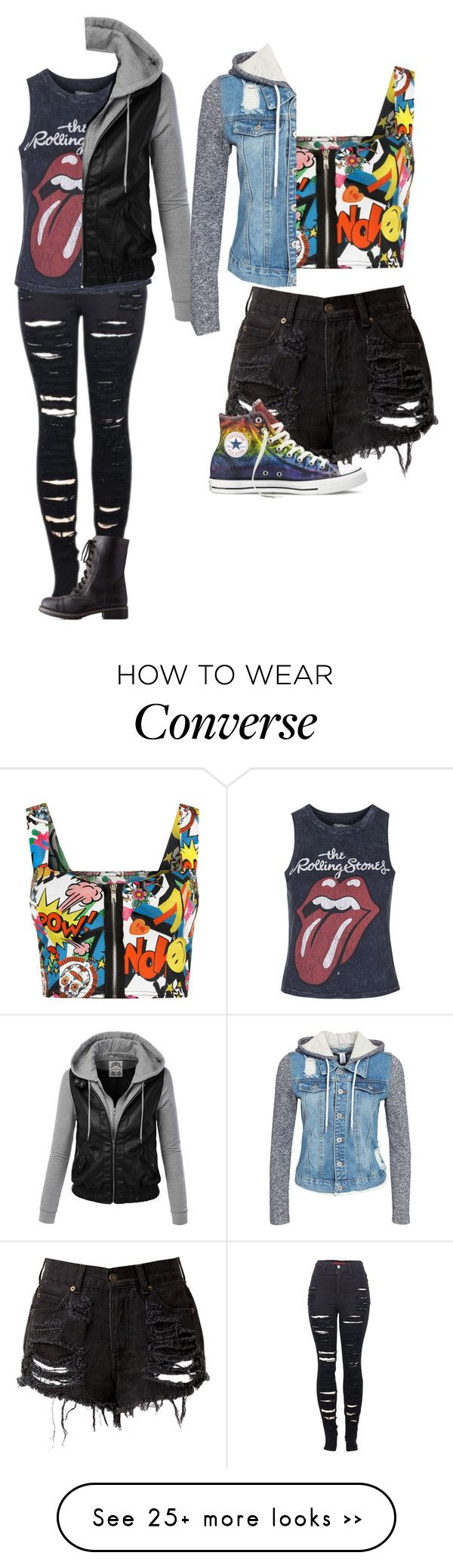 """Untitled #1184"" by kayla3n on Polyvore featuring 2LUV, Topshop, WearAll, Charlotte Russe, Converse and NLY Trend"
