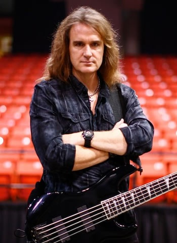 This is David Ellefson. The present Bassist for the American Thrash metal band, Megadeth. He and The lead singer Dave Mustaine founded the band.
