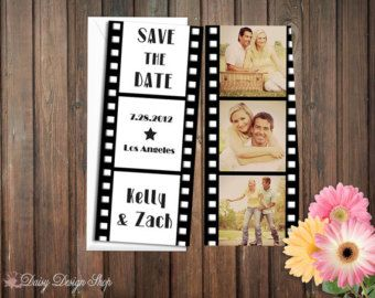 Save the Date Card Film Strip Movie Reel in por DaisyDesignShop