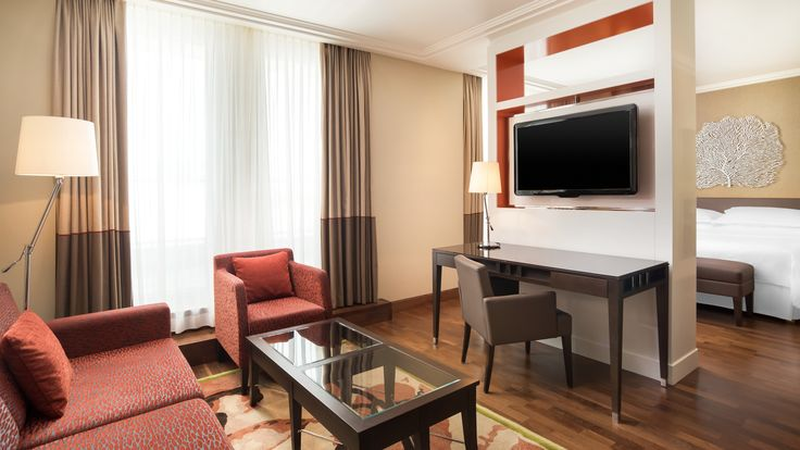 Spacious and comfortable Junior Suites at the Sheraton Bratislava Hotel offer…