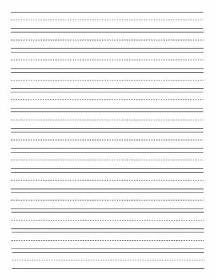 Primary Lined Paper Lined Writing Paper Template Writing Paper