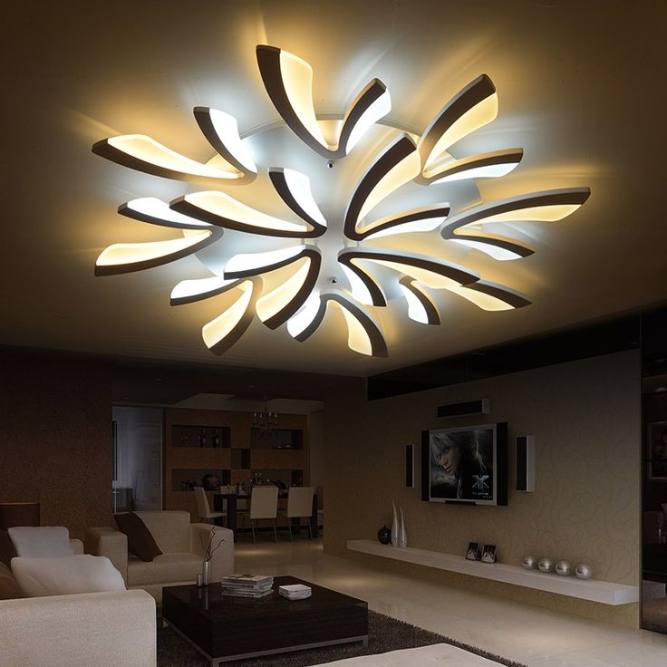 The 25 best modern led ceiling lights ideas on pinterest neo gleam acrylic thick modern led ceiling lights for living room bedroom dining room home ceiling aloadofball Image collections