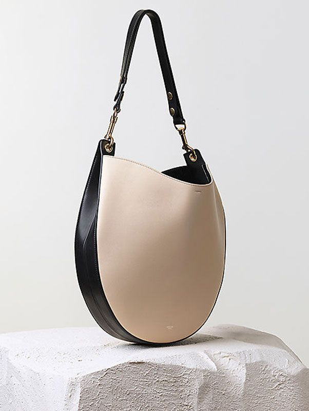 Celine hobo handbag in seashell multicolor smooth calfskin