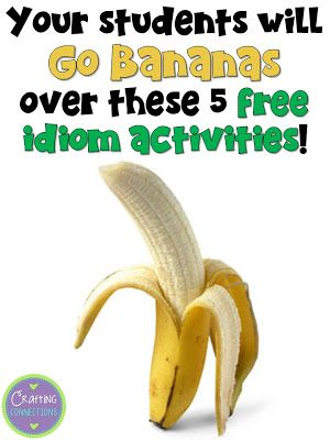 Crafting Connections: Five FREE Idiom Activities