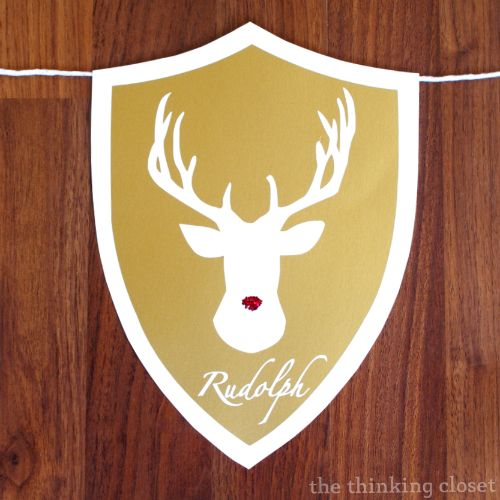 (Rein)Deer Head Holiday Banner & $155 Amazon Giveaway! - the thinking closet