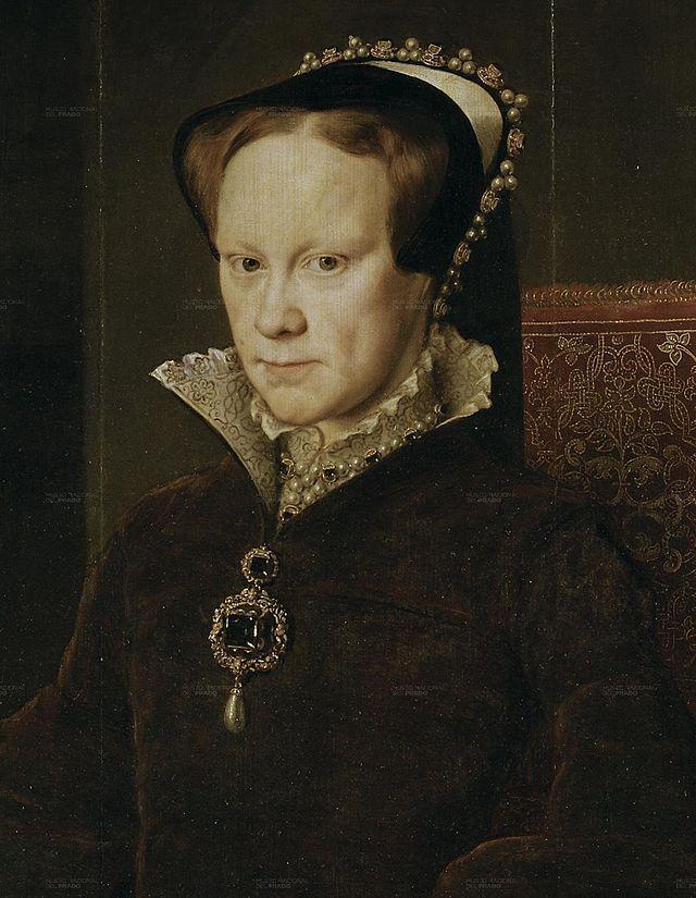 Мария I Тюдор (1516—1558). Также известна как Мария Кровавая (или Кровавая Мэри, англ. Bloody Mary), Мария Католичка.