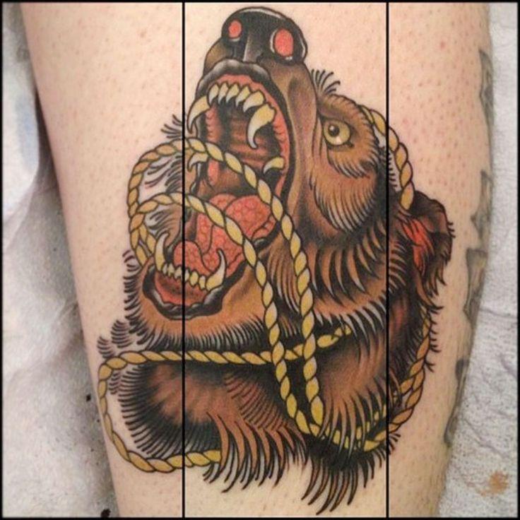 Best Traditional Bear Tattoo Tumblr Angry Bear Tattoo Idea Tattoo Men Ideas