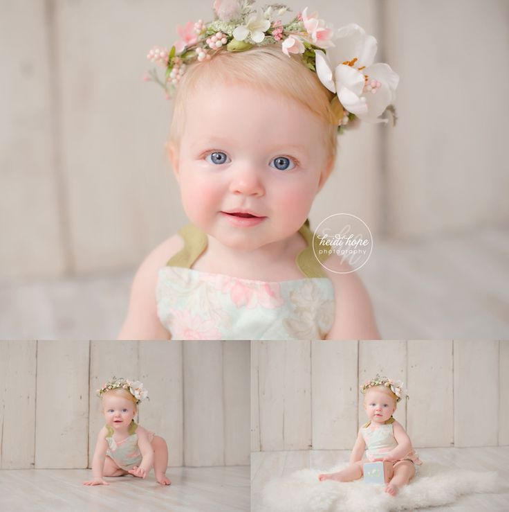 A sneak peek from the January workshop for photographers.  6 month old baby girl portraits with floral crown.  Yep, I made the crown!