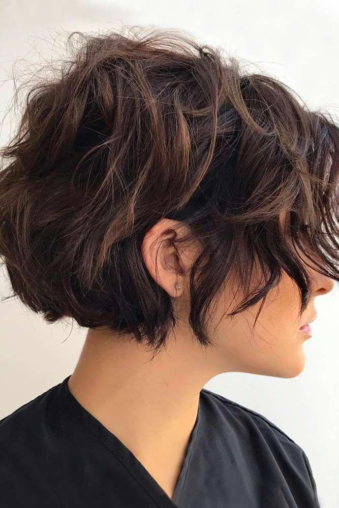Geschichtetes kurzes Haar ❤ 45 Ideen, um Ihr kurzes lockiges Haar zu rocken ❤ #Lovehairstyles #Haircuts #Hairideas #Curlyhair #Short