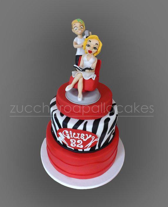 Marilyn Monroe and her hairdresser :) - Cake by Sara Luvarà - Zucchero a Palla Cakes