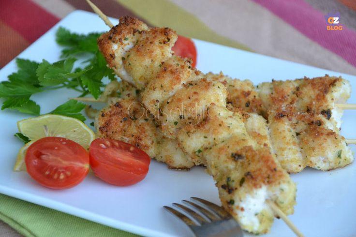 Spiedini di pollo impanati, ricetta veloce