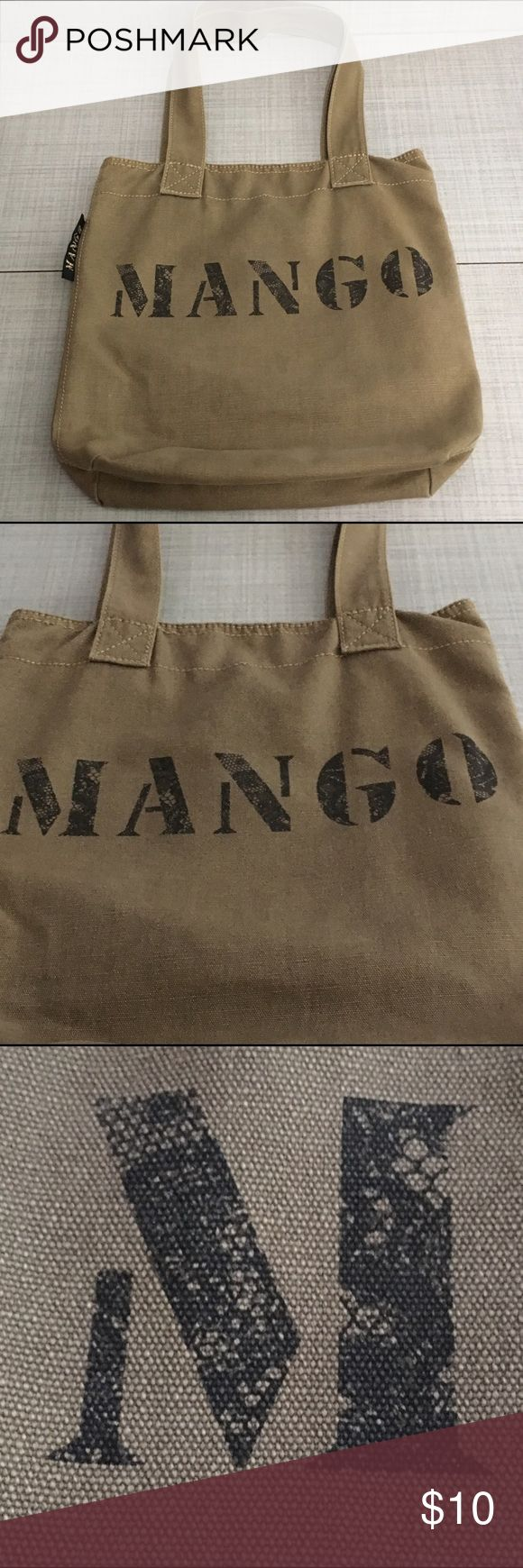 MANGO Canvas Tote Pre-loved canvas lightweight MANGO tote. Tote is in great condition with minimal signs of wear. Please comment if you have any questions. Mango Bags Totes