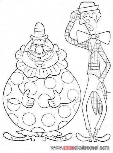 şişman Zayıf Palyaço Carnevale Sketches
