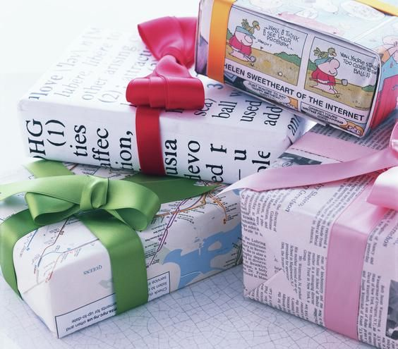 Use Newspaper and Maps to Wrap Boxes | Turn a jump rope, dish towels, newspaper, and more into great gift packaging.