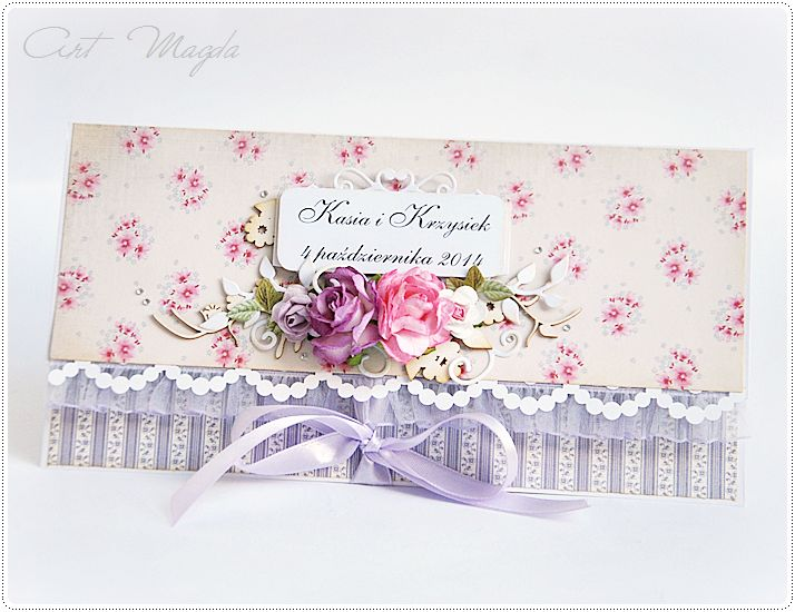 ArtMagda wedding card in violet