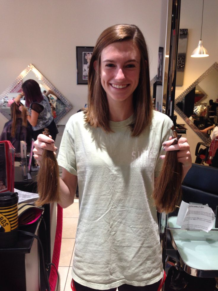 Donated 8 inches to Pantene Beautiful Lengths!   NOT Locks of Love because they have very fishy financial statements showing that they actually sell a large portion of donated hair to various companies.   Do your research before you donate!