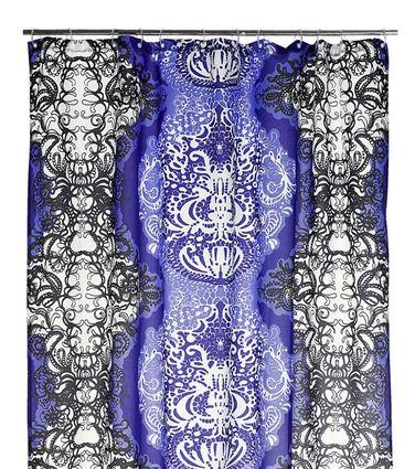 Vallila: Mandariini shower curtain in purple