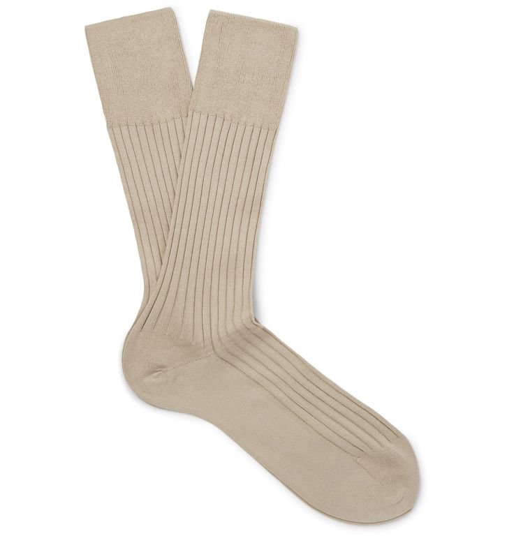 <a href='http://www.mrporter.com/mens/Designers/Falke'>Falke</a>'s 'No. 13' socks are spun with the finest Egyptian Piuma cotton that's been sourced from the Nile Delta. Handmade with reinforced stress zones to ensure longevity, they're ribbed for light cushioning and have a lightweight handle, making them ideal for warmer months.