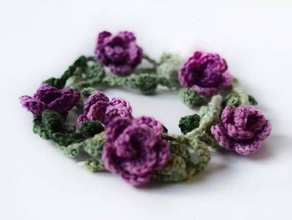 Crochet Necklace Pattern Crochet Flower Necklace Pattern