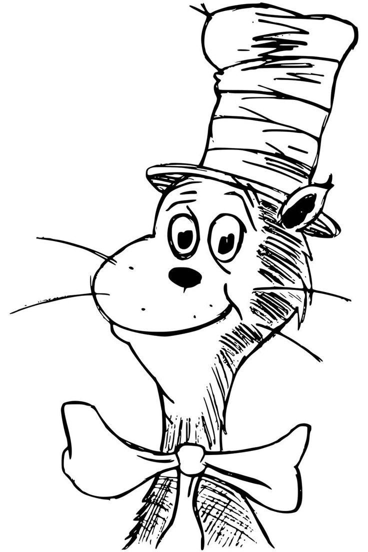 cat in the hat coloring pages getcoloringpages in 2020 ...