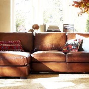 Pottery Barn Leather Sofa Bed