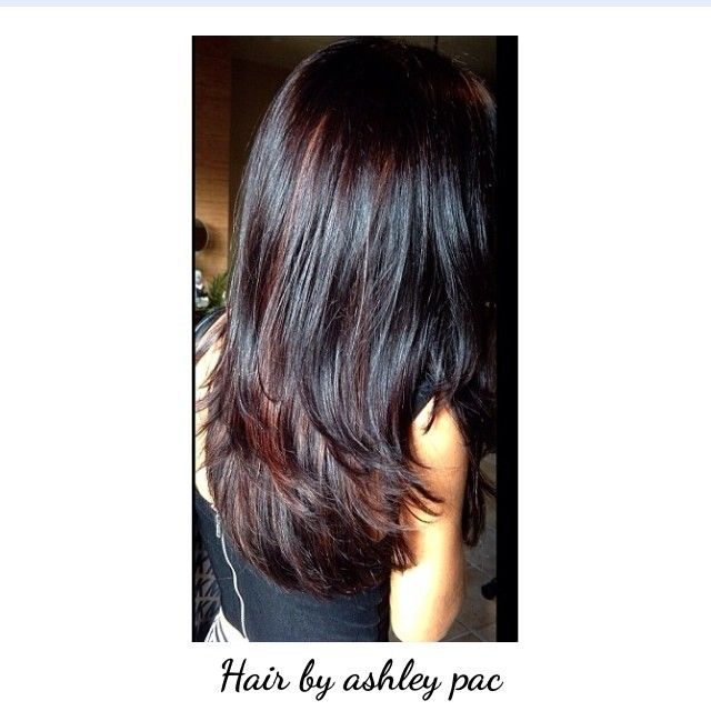 The 25 best red peekaboo highlights ideas on pinterest dark red peekaboo highlights and a layered haircut pmusecretfo Images