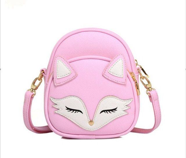 2017 Mini Cartoon Fox New Fashion Baby Girls Bags Summer New Mini Bag Fox Cute Messenger Bag Female Student Shoulder Bag Tide