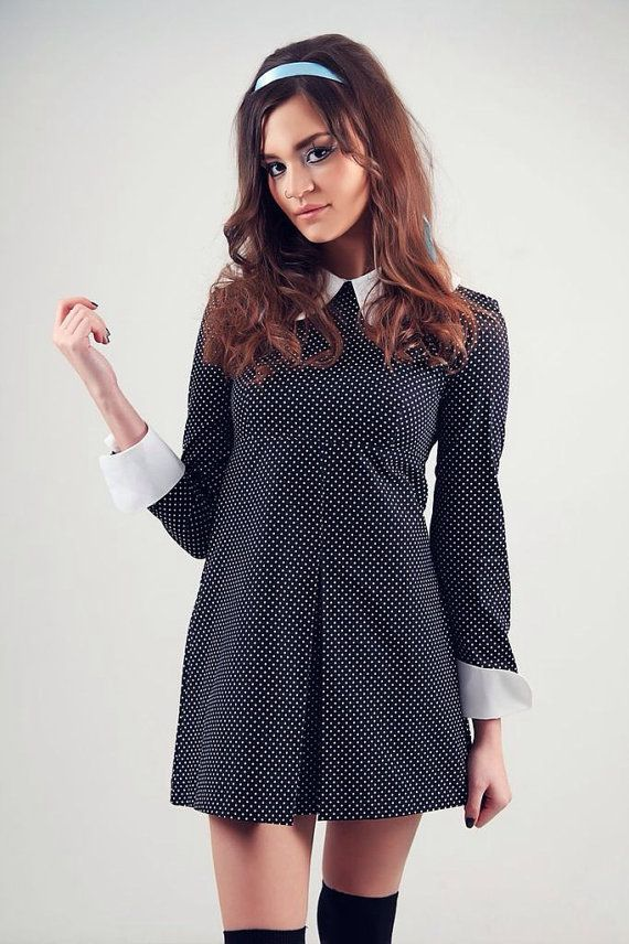 1960's Reproduction Mod Dress Wednesday by VioletHouseClothing