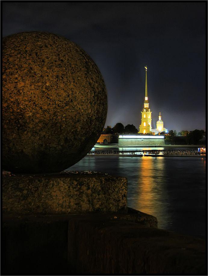 Night in Saint Petersburg, Russia