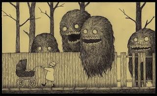 Don Kenn post-it monsters: John Kenn, Edwardgorey, Johnkenn, Donation Cans, Edward Gorey, Posts It, Horror Movie, Kenn Mortensen, Monsters Drawings