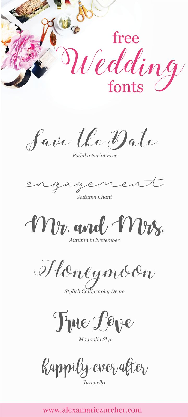 Free Wedding Fonts!