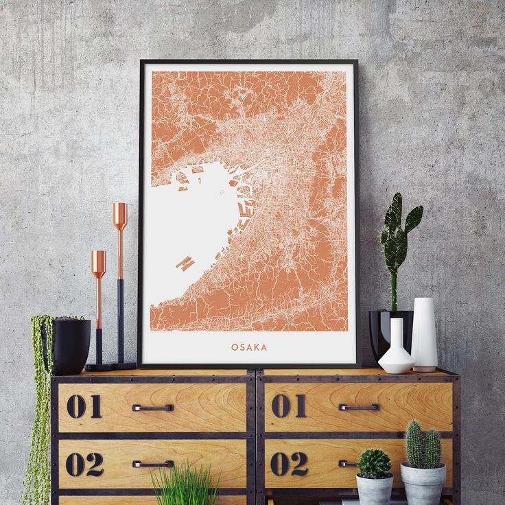 A unique culture and a world of flavours combined with the spectacular surrounding mountains. All that, and much more you can find from the beautiful Osaka. #osaka #travel #travelling #culture #food  .  .  .  .  .  #vacation #nature #mountains #interior #design #interiordesign #inspiration #art #homedecor #gift #gifts #giftideas #present #map #poster #copper #sharp #alvarcarto