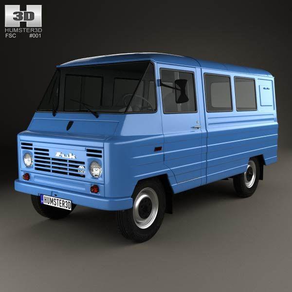 FSC Zuk (A07) Van 1975 3d model from humster3d.com. Price: $75