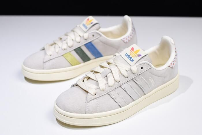 the best attitude 6ab00 9d646 New adidas Campus Pride Multi Cream WhiteTrace Pink-Trace Scarlet B42000