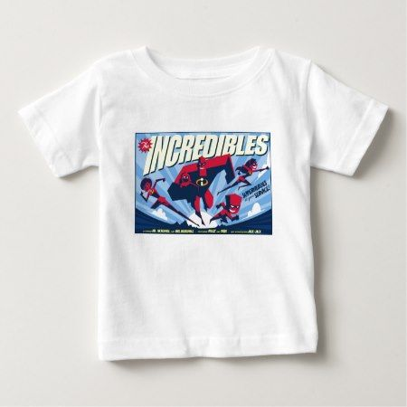 The Incredibles movie poster Disney Baby T-Shirt - tap, personalize, buy right now!