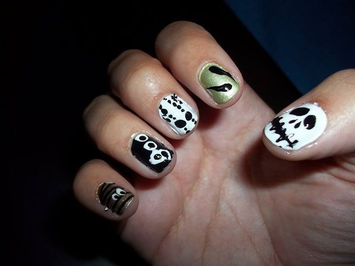 Halloween inspired-nails!
