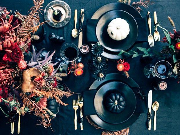 Gorgeous #halloween table setting