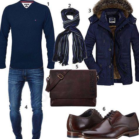 Elegantes Herrenoutfit mit Parka und Ledertasche (m0725) #bugatti #ledertasche #parka #tommyhilfiger #jeans #outfit #style #herrenmode #männermode #fashion #menswear #herren #männer #mode #menstyle #mensfashion #menswear #inspiration #cloth #ootd #herrenoutfit #männeroutfit