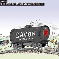 Images Lac-Mégantic - Québec somme la MMA de nettoyer les lieux dévastés... Images drôles Caricatures sur Humour.com