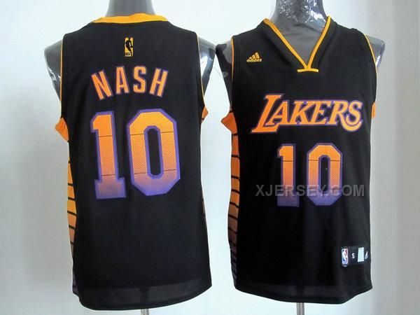 420ab171129 nba los angeles lakers 10 unveil steve nash black jerseys