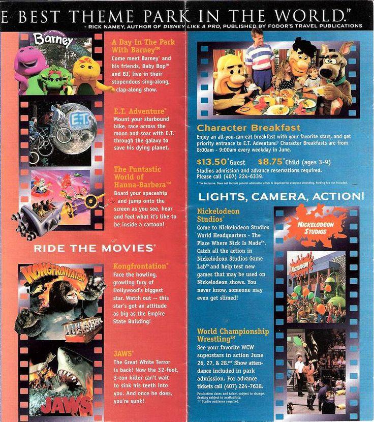 Park Map: Universal Studios Florida 1998