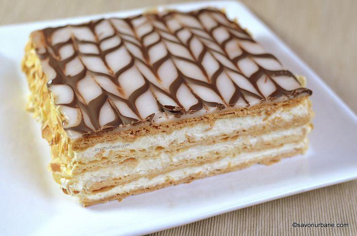 Millefeuille sau Tort Napoleon reteta clasica frantuzeasca. Un desert de gala, extrem de fin si de aromat. Aluat foietaj, crema de vanilie (patissiere),