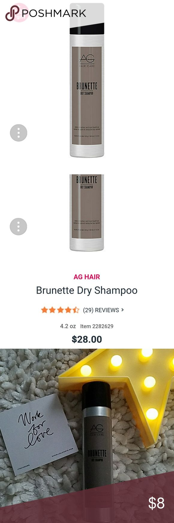 AG Brunettes💞 dry shampoo💞 sprayed ONE TIME💞 AG💞 Brunettes💞 dry shampoo💞 I sprayed this ONE TIME💞 the can is FULL💞 I went to a blonde pixie😂😂😂😂 This stuff is expensive, so here's a deal for those who use this💞 AG Other