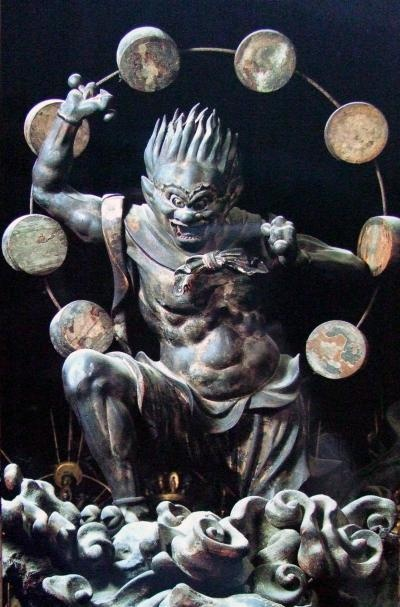 Japanese National Treasure, Statues of Raijin (thunder god) 雷神像(三十三間堂) ---------- #japan #japanese