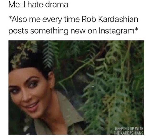 Rob Kardashian vs Black Chyna   meme