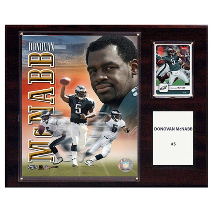 C and I Collectables NFL 15W x 12H in. Donovan McNabb Philadelphia Eagles Player Plaque - 1215MCNABB