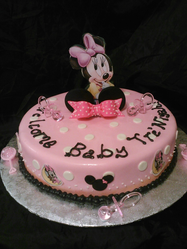 baby minnie mouse shower cake my baby shower ideas pinterest
