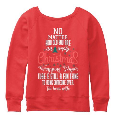 Christmas Fashioin Red T-Shirt Back