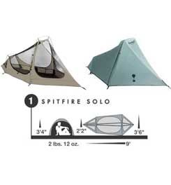 Best Backpacking Tent for your money! $89.97 buys you 9ft. x 3ft. 6in.; (18 square feet of space), and it weighs only 2lbs 12ozs!!! Yes, I do own this tent and I love it. Plenty of ventilation, Plenty of head space, and while I have never been in more than light rain with it, never any leaks. If you want a two man tent, or just like more space, go with the Eureka Spitfire 2 for $129.99 campmor.com